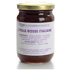 Conservas dulce Cebollas rojas italianas 310gr Monasterio Carmel s1