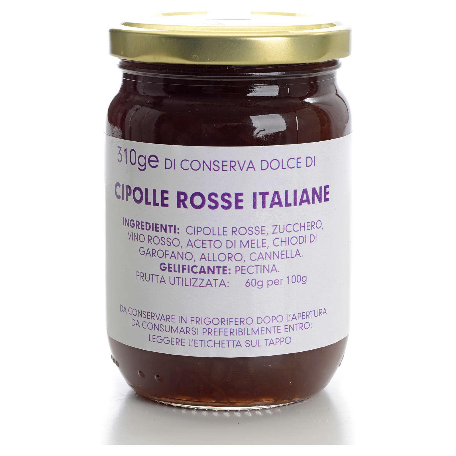 Conserve dolce cipolle rosse italiane 310 gr Monastero Carmelita 3