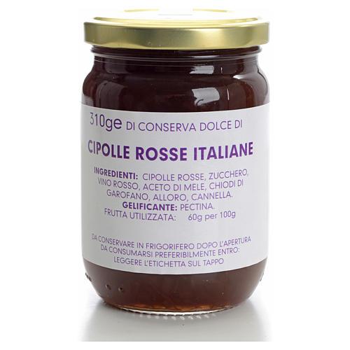 Conserve dolce cipolle rosse italiane 310 gr Monastero Carmelita 1