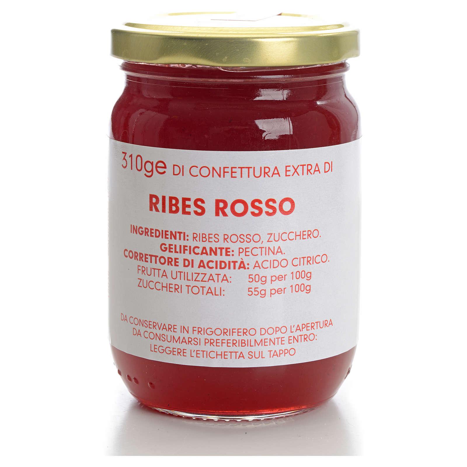 Confettura ribes rosso 310 gr Monastero Carmelitane 3