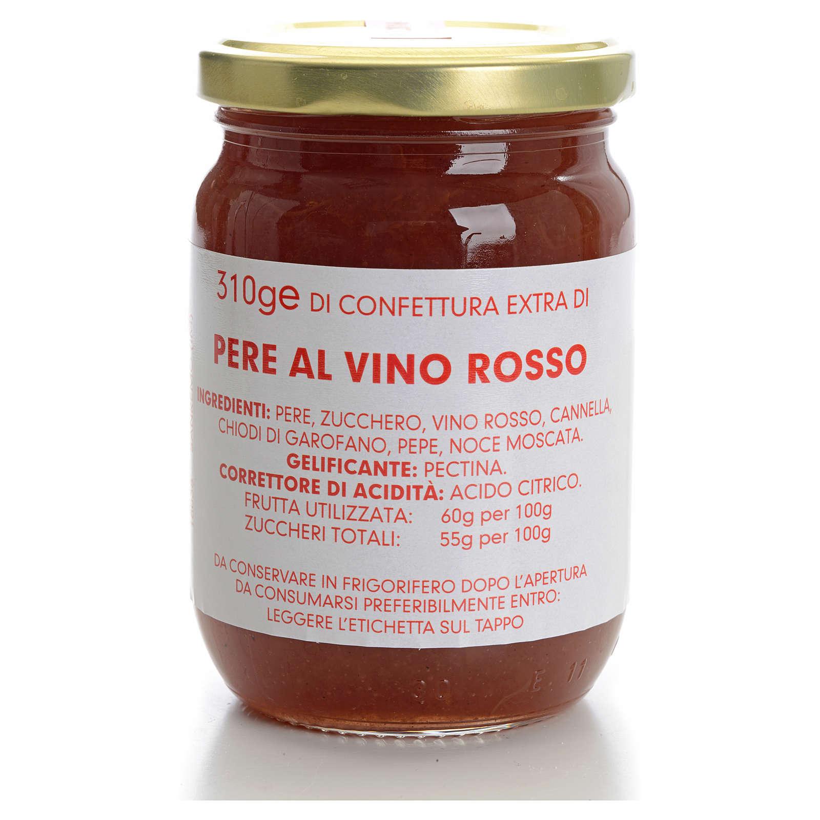 Confettura pere al vino rosso 310 gr Monastero Carmelitane 3