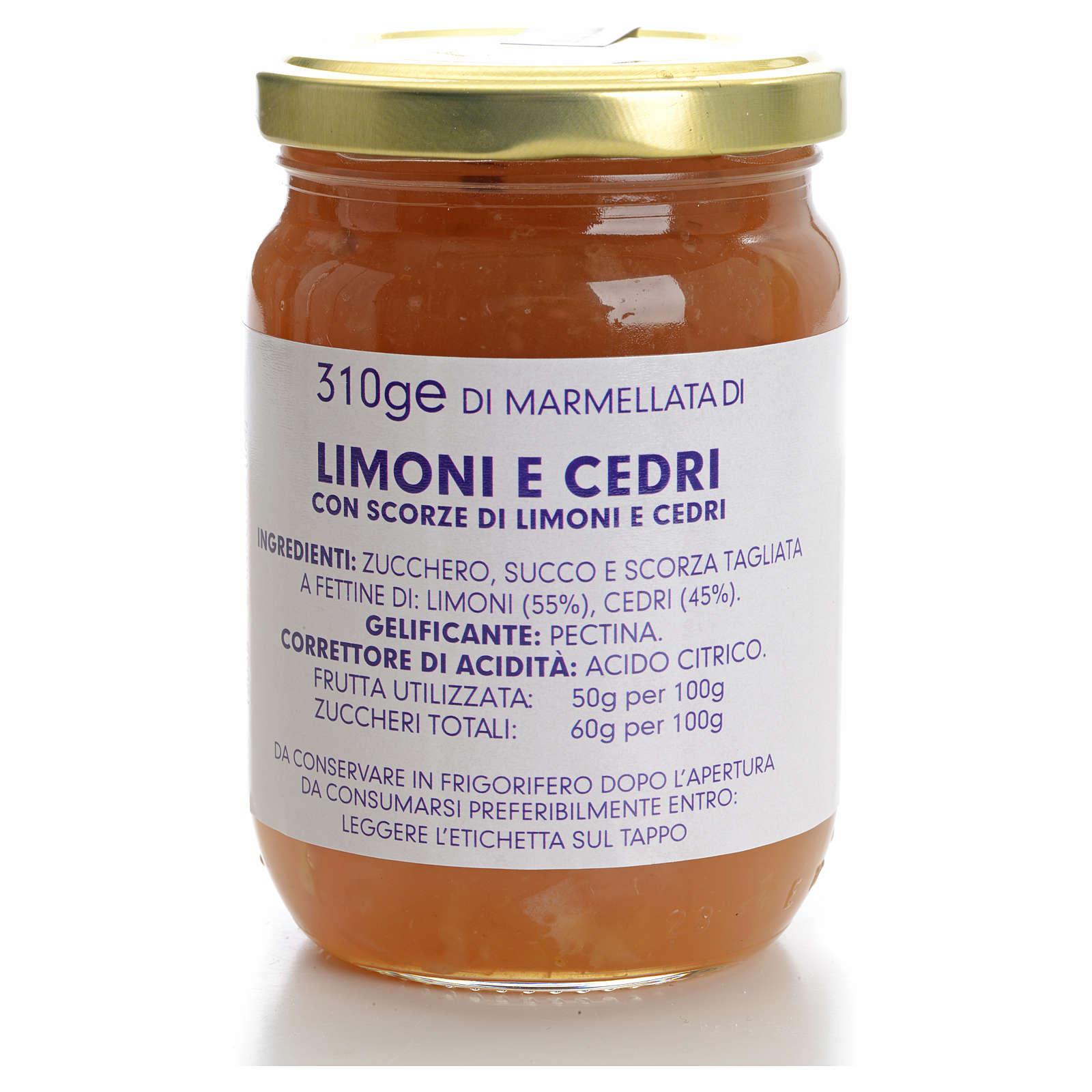 Marmellata limoni e cedri 310 gr Monastero Carmelitane 3