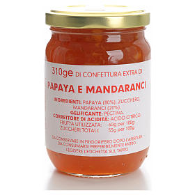 Confiture papaye et clémentines 310 g Carmélites s1