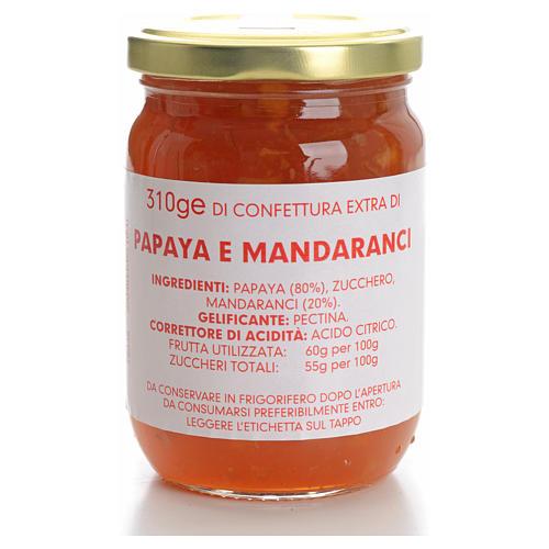 Confiture papaye et clémentines 310 g Carmélites 1