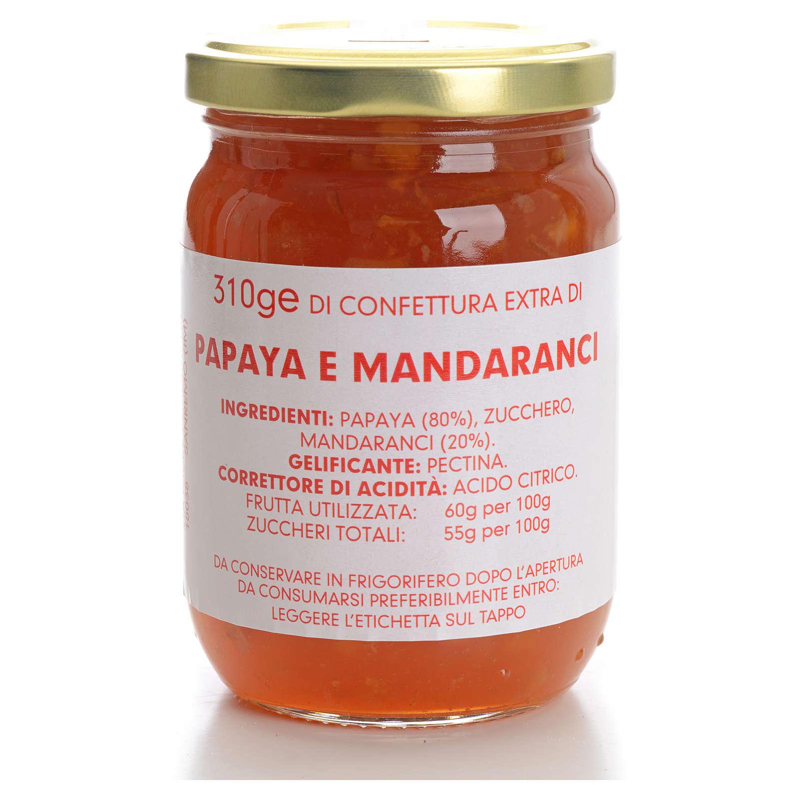 Confettura papaya e mandaranci 310 gr Monastero Carmelitane 3