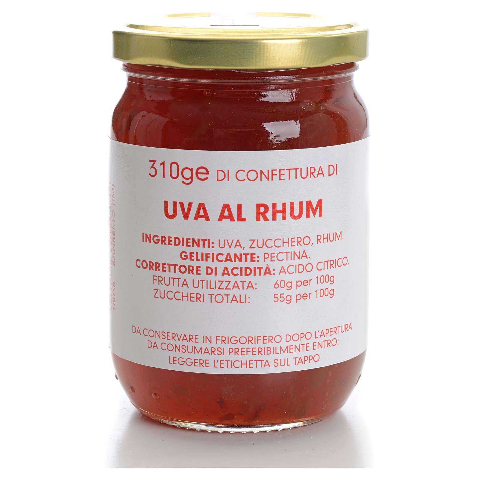 Confettura uva al rhum 310 gr Monastero Carmelitane 3