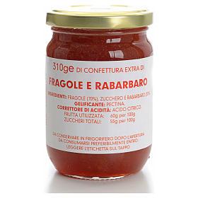 Confettura fragole e rabarbaro 310 gr Monastero Carmelitane s1