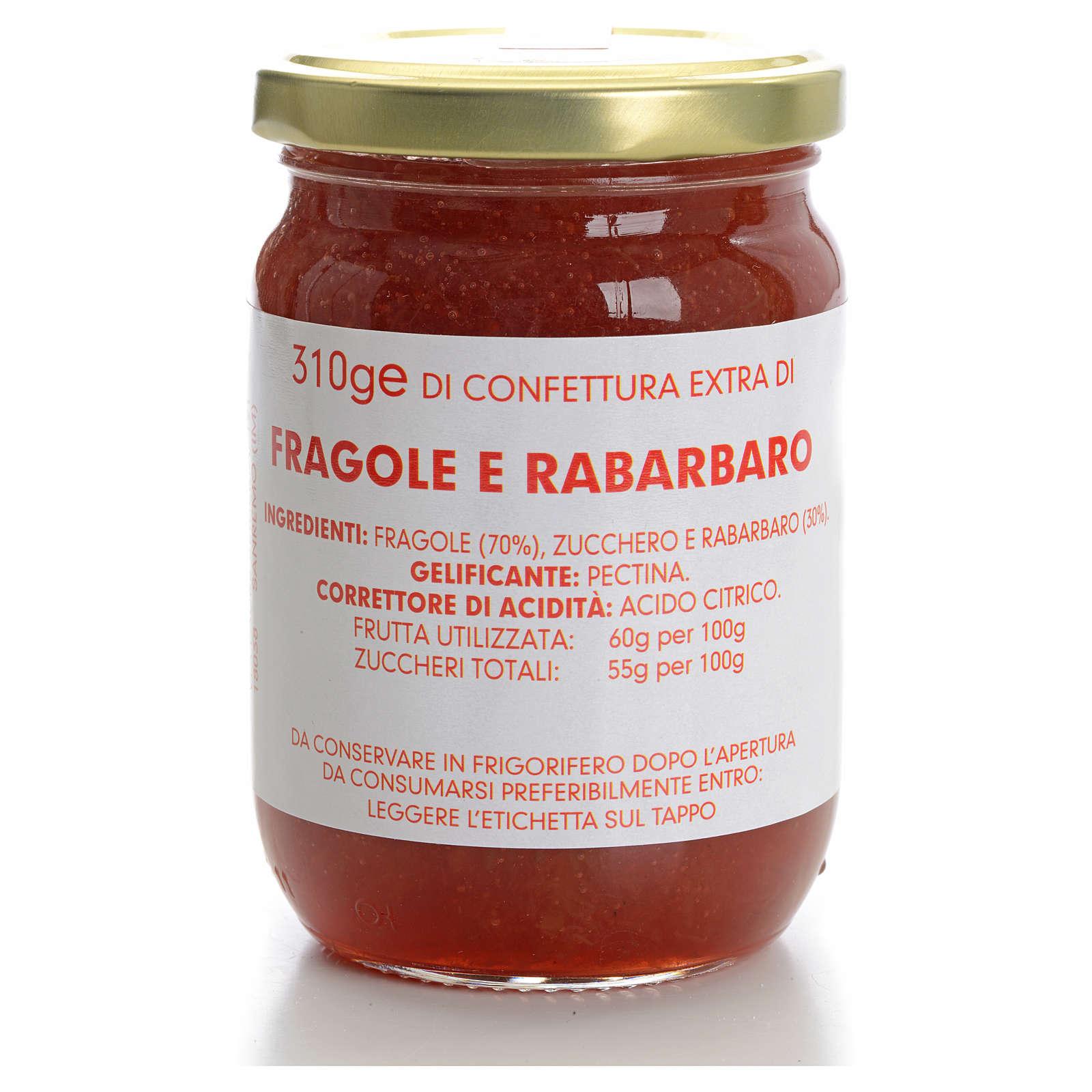 Strawberry and rhubarb jam of the Carmelites monastery 310g 3