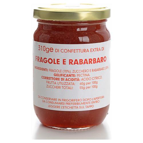 Strawberry and rhubarb jam of the Carmelites monastery 310g 1