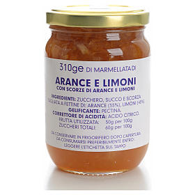 Confiture orange et citron 310 g Carmélites s1