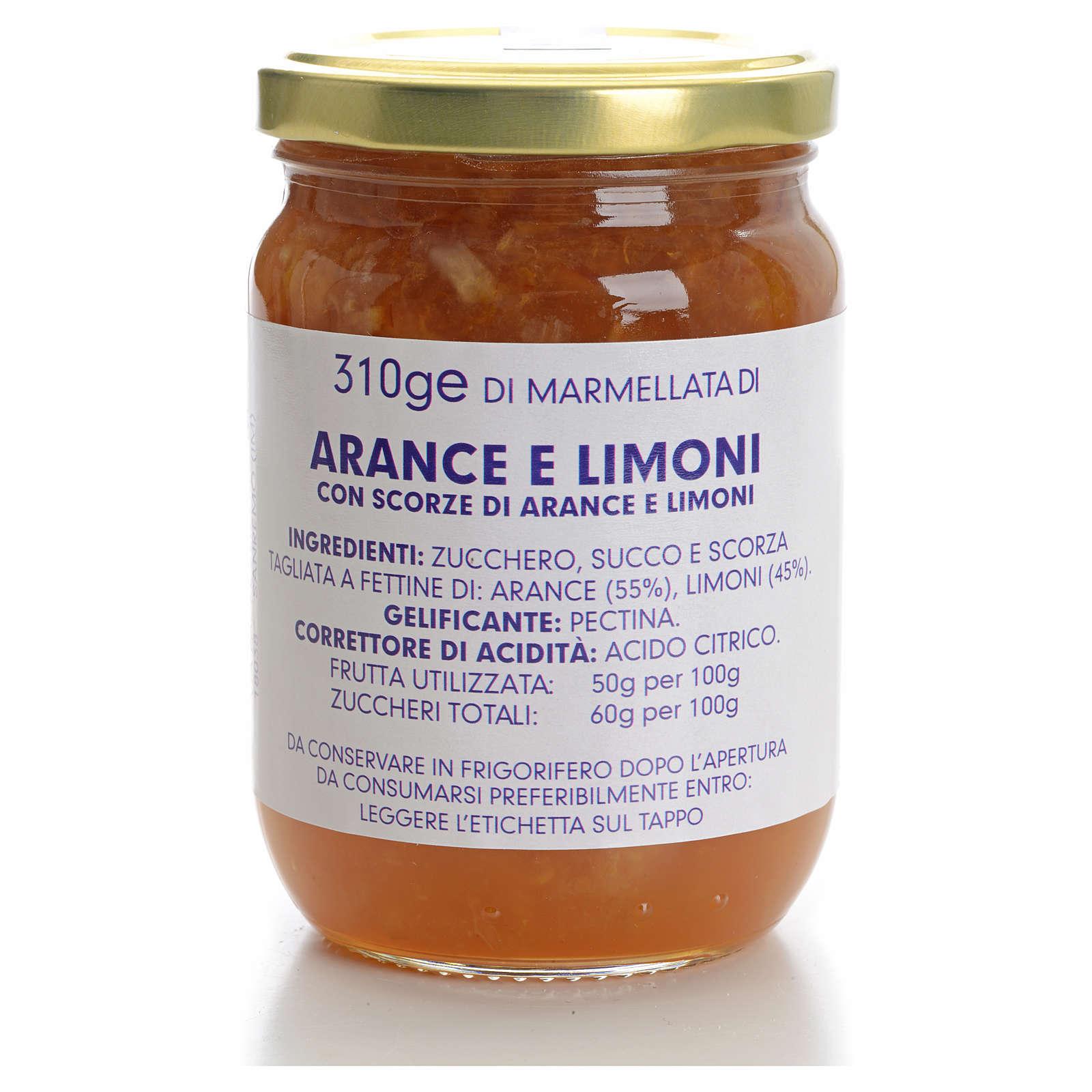 Marmellata arance e limoni 310 gr Monastero Carmelitane 3