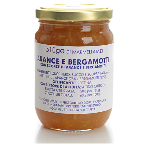 Confiture orange et bergamote 310 g Carmélites 1