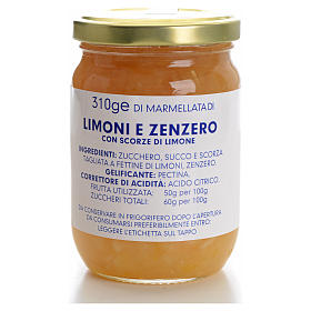 Marmellata limoni e zenzero 310 gr Monastero Carmelitane s1