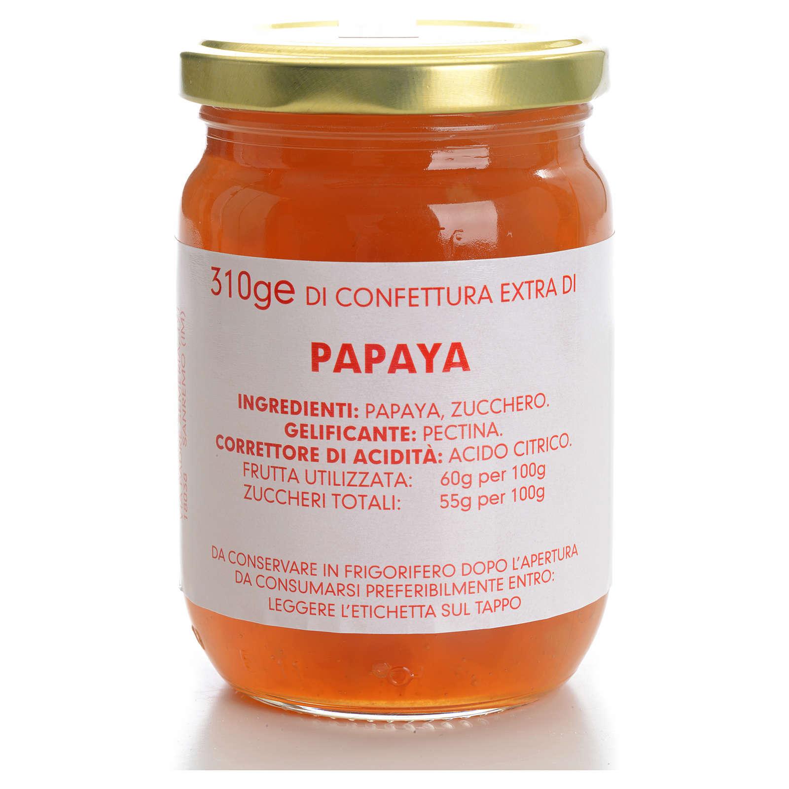 Confettura papaya 310 gr Monastero Carmelitane 3