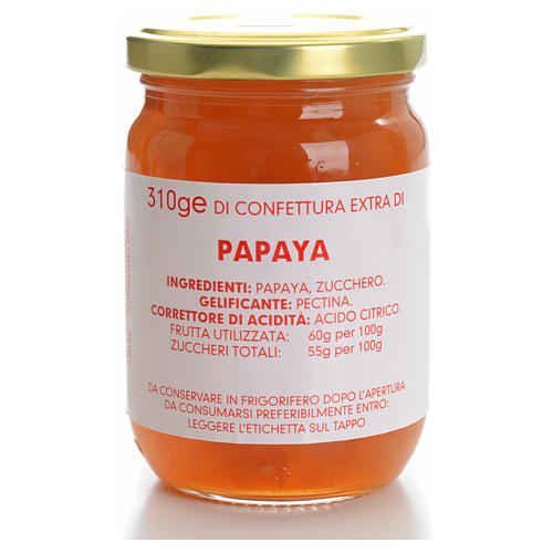 Confettura papaya 310 gr Monastero Carmelitane 1