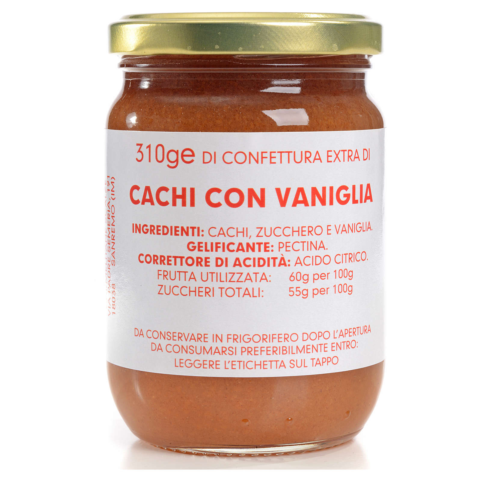 Confettura cachi con vaniglia 310 gr Monastero Carmelitane 3
