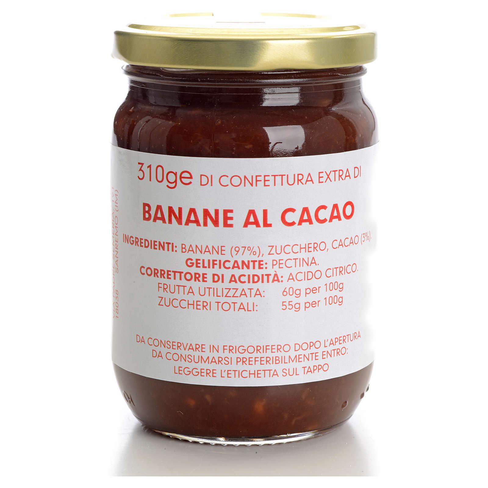 Confettura banane al cacao 310 gr Monastero Carmelitane 3