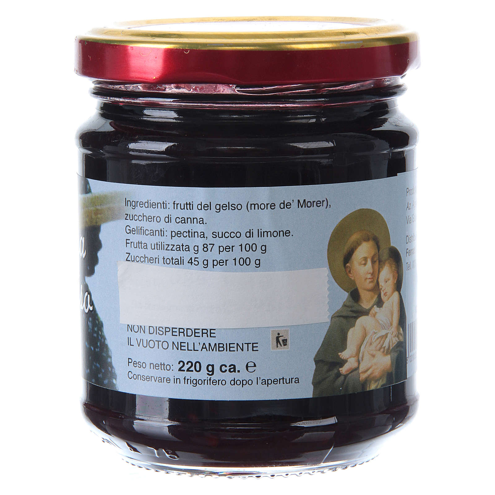 220gr extra pear jam of St. Anthony of Padua 3
