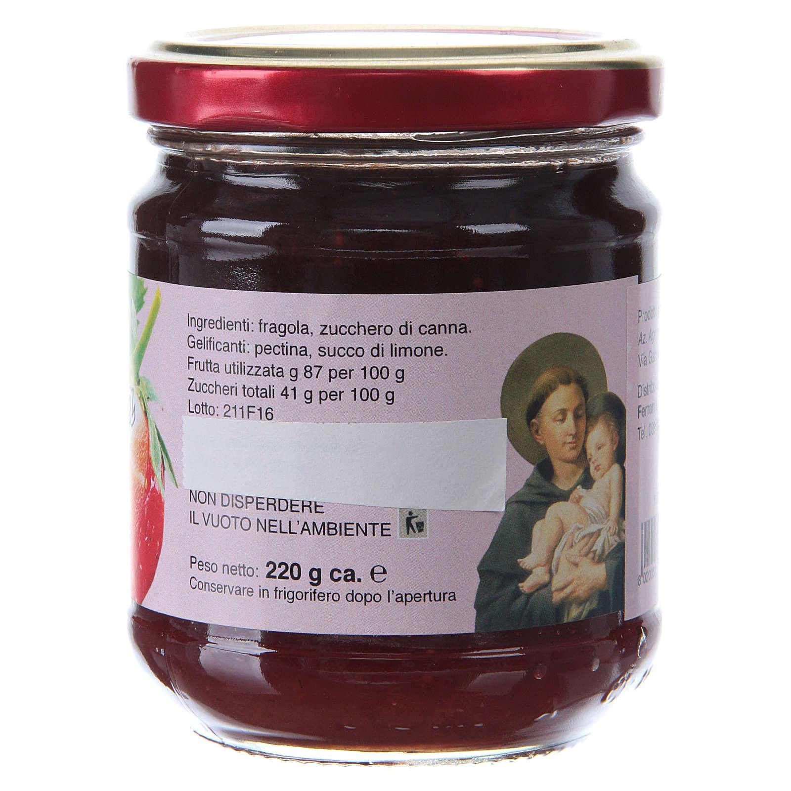 Confettura extra di Fragole 220 g  di Sant'Antonio di Padova 3