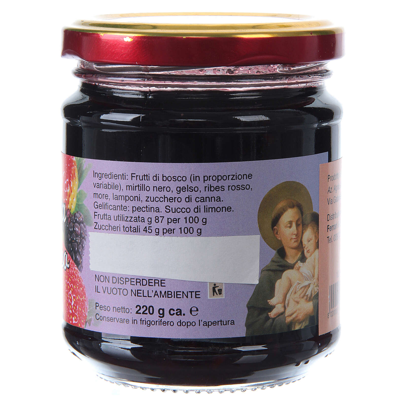 Confitura extra de frutas del bosque 220 gr de San Antonio de Padua 3