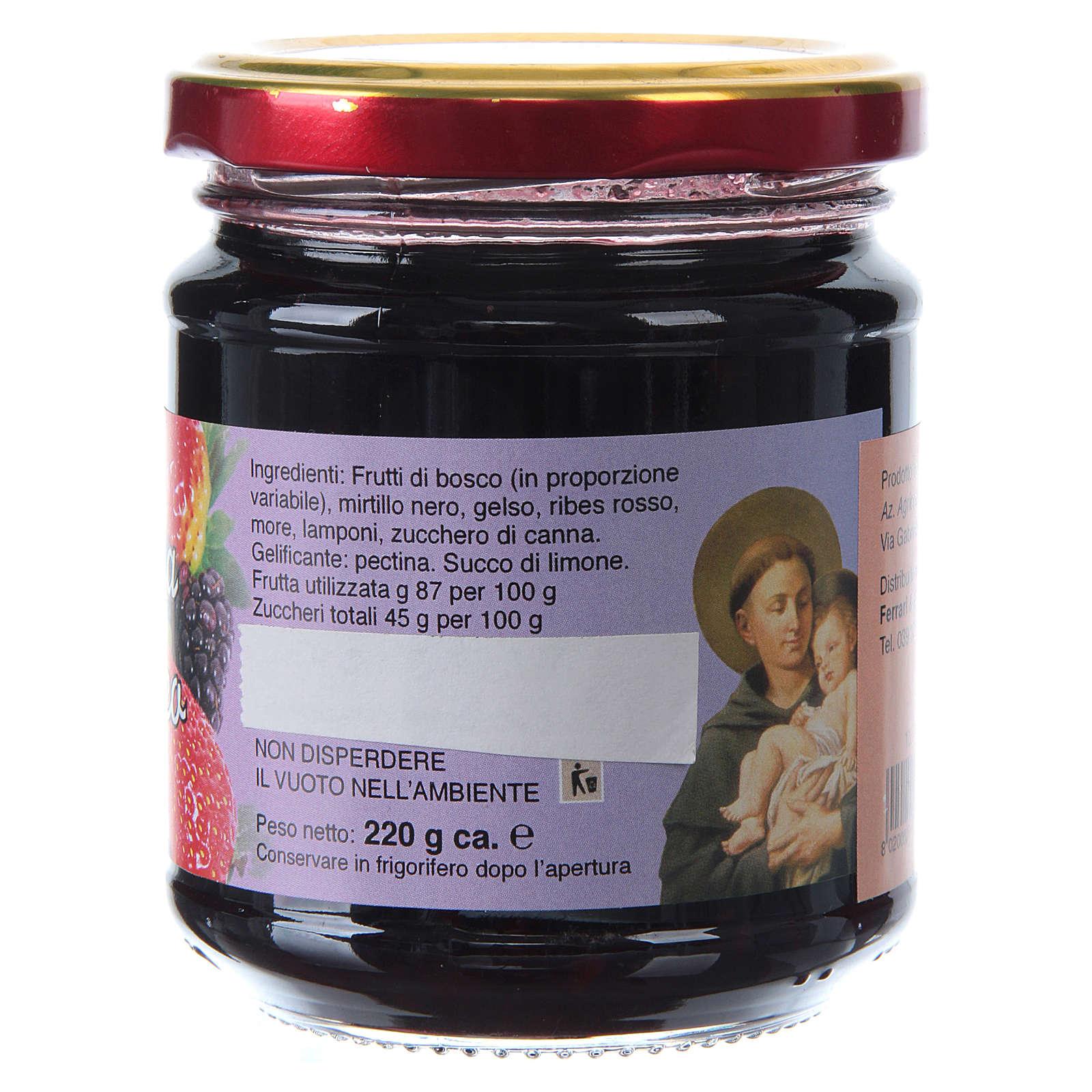 Confettura extra di frutti di bosco 220 g  di Sant'Antonio di Padova 3