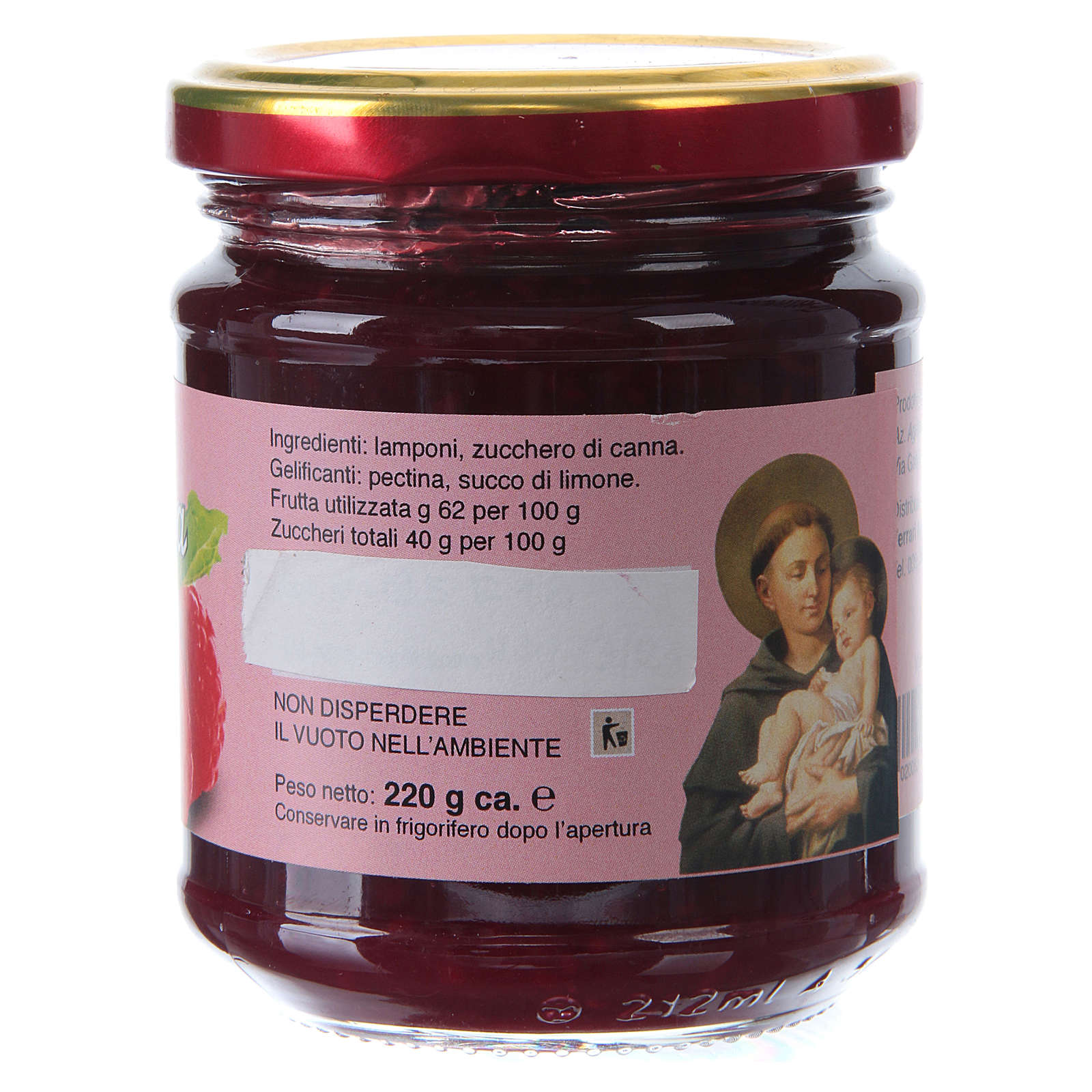 220gr extra raspberry jam of St. Anthony of Padua 3