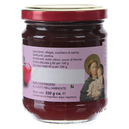 220gr extra Maser cherry jam of St. Anthony of Padua 2