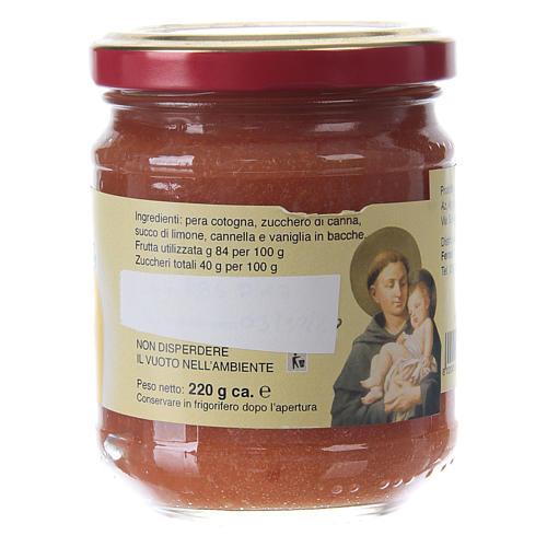 Confettura extra di pere cotogne 220 g  di Sant'Antonio di Padova 2