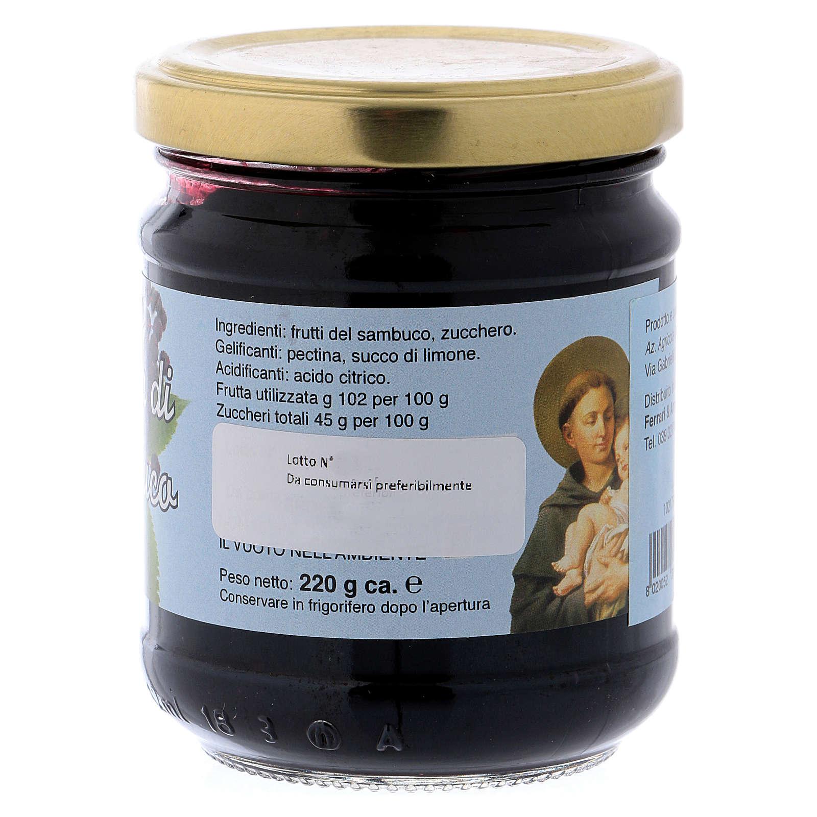 220gr extra elderberry fruit jam of St. Anthony of Padua 3