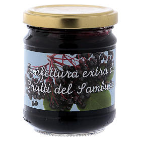 Jams and Marmalades: 220gr extra elderberry fruit jam of St. Anthony of Padua