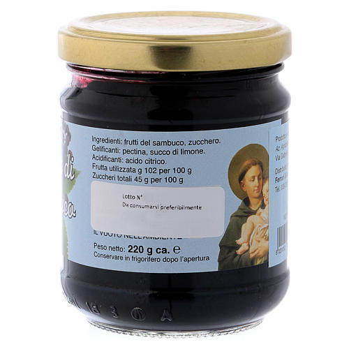 220gr extra elderberry fruit jam of St. Anthony of Padua 2