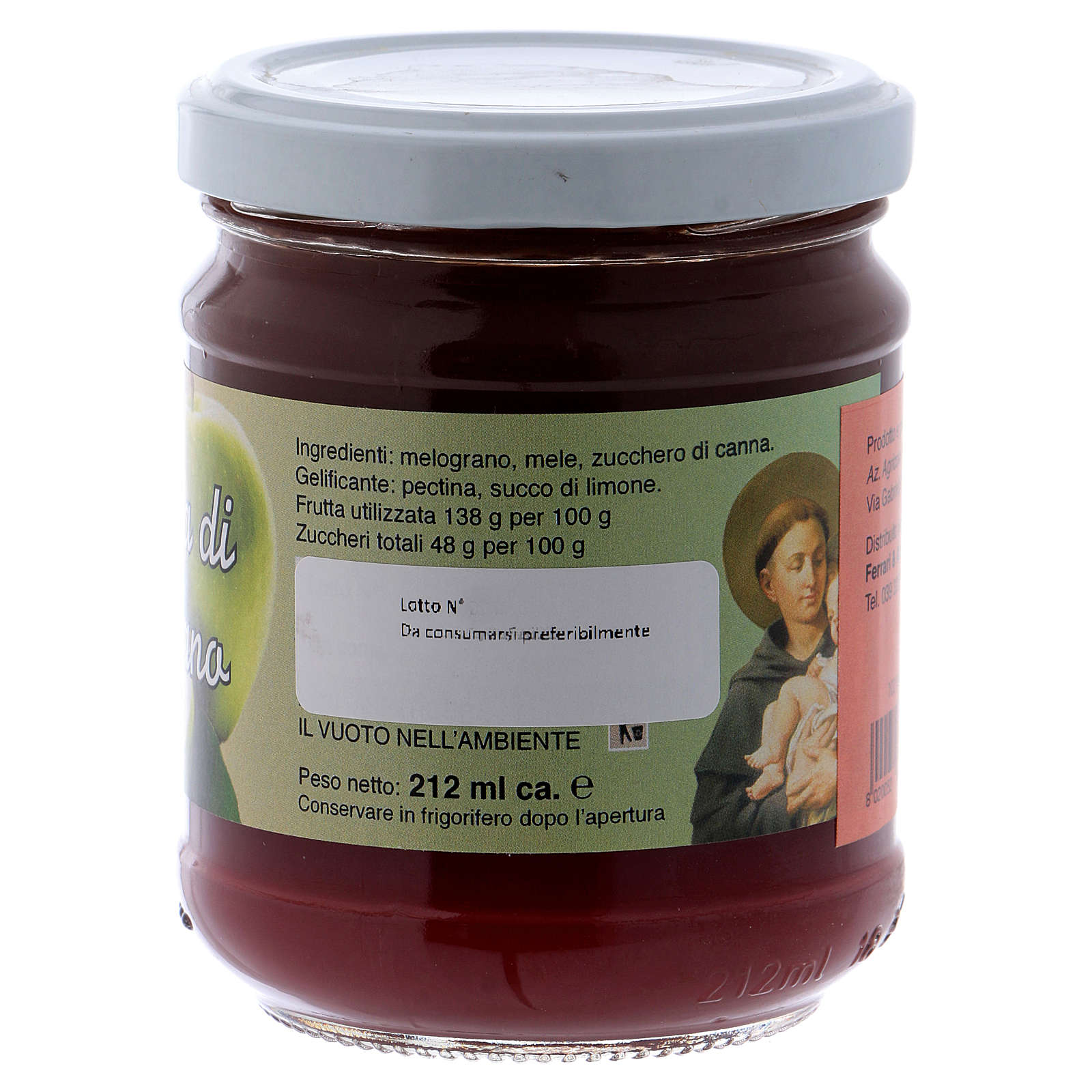 Confiture extra de pomme et grenade 220 g Saint Antoine de Padoue 3
