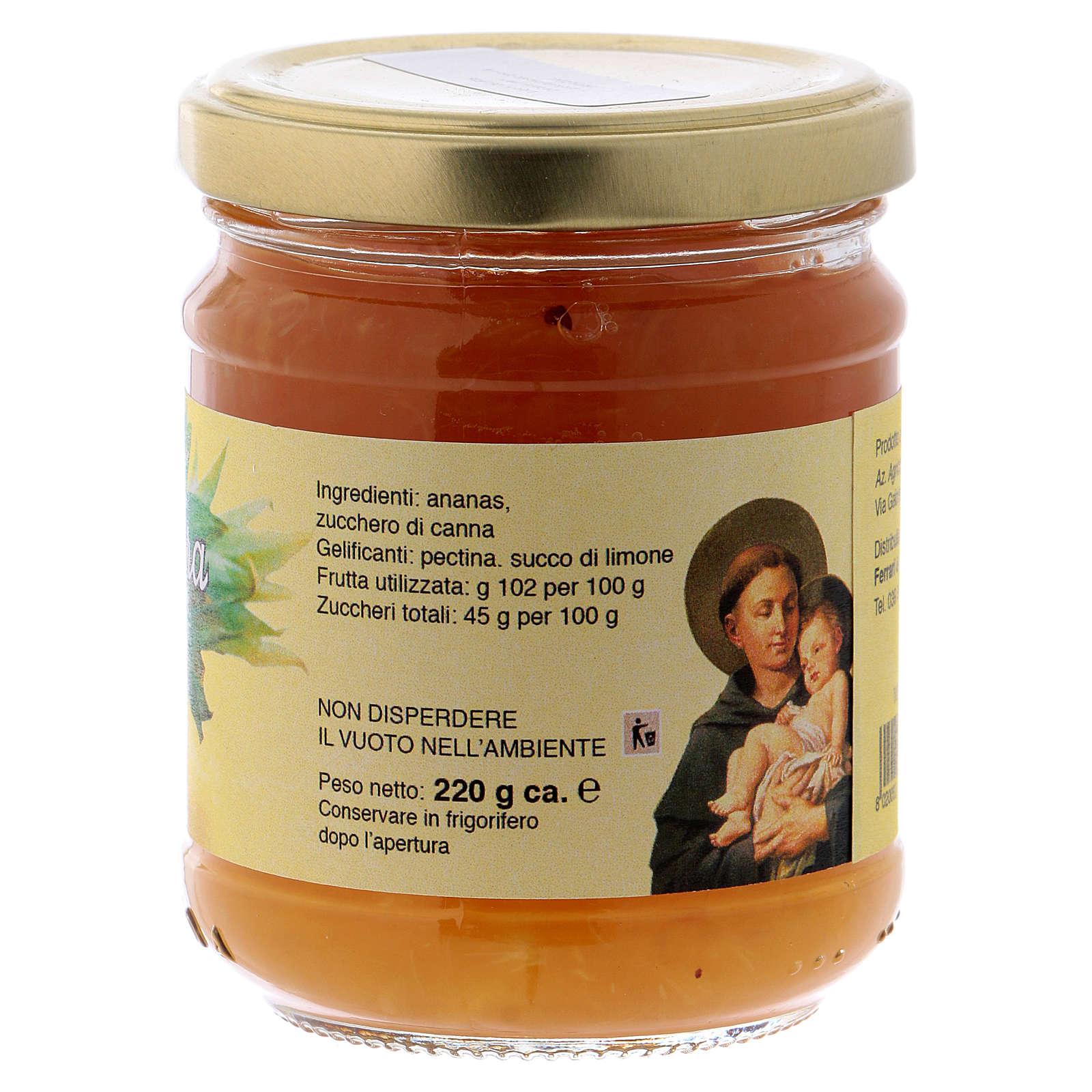 Confiture extra d'Ananas 220 g Saint Antoine de Padoue 3