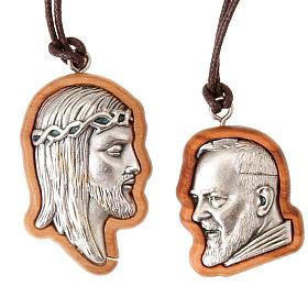 Pingentes Vários: Medalha Jesus Padre Pio