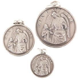 Anhänger, Kreuze, Broschen, Ketten: Kleine Medaille Heilig Raffaele Erzengel Silber 925