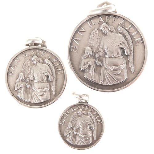 Kleine Medaille Heilig Raffaele Erzengel Silber 925 1