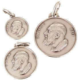 Anhänger, Kreuze, Broschen, Ketten: Kleine Medaille Padre Pio Silber 925