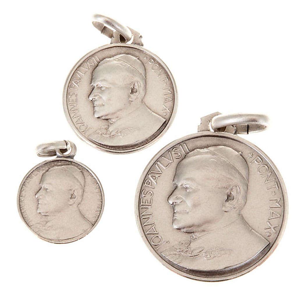 Medaglietta Giovanni Paolo II argento 925 4