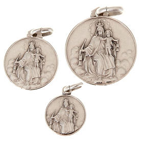 Our Lady of Mount Carmel silver 925 medal s1