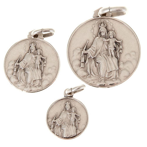 Medaglietta Madonna del Carmine argento 925 1