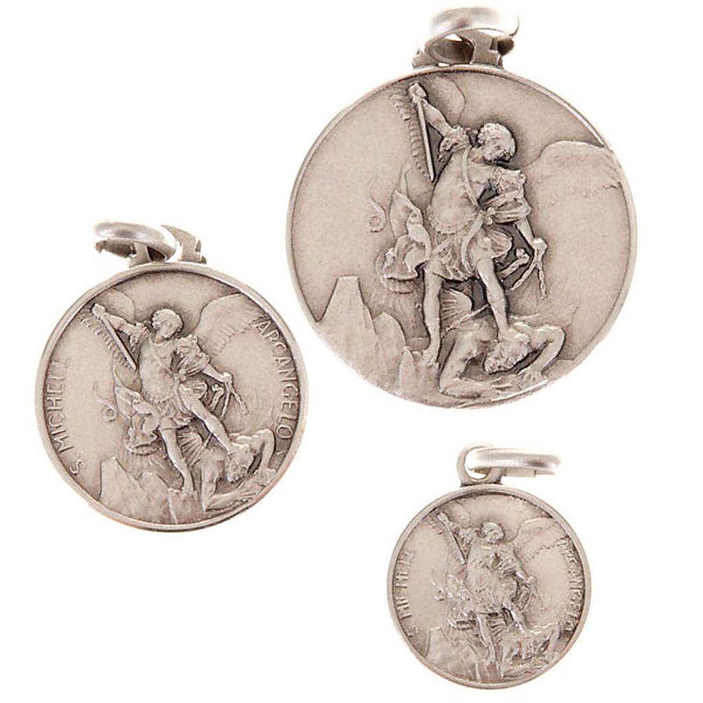 Medaglietta San Michele arcangelo argento 925 4