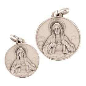 Pendentifs, croix et broches: Médaille sacre coeur de Marie, argent 925