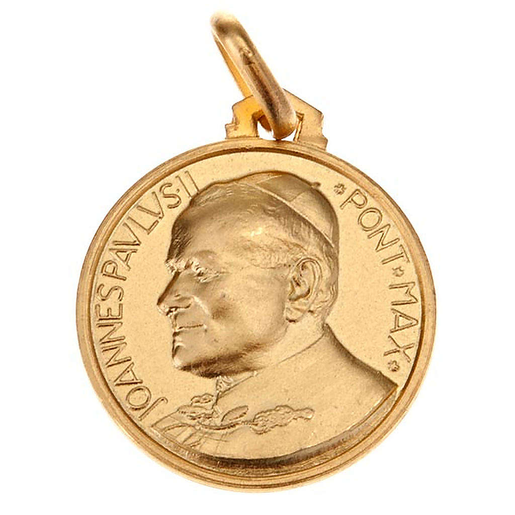 John Paul II medal in gold 18 k 750 4
