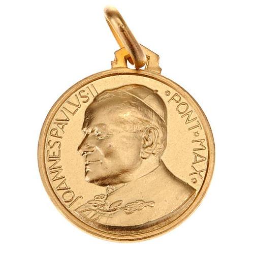 Medalla Juan Pablo II oro 18 k 750 2