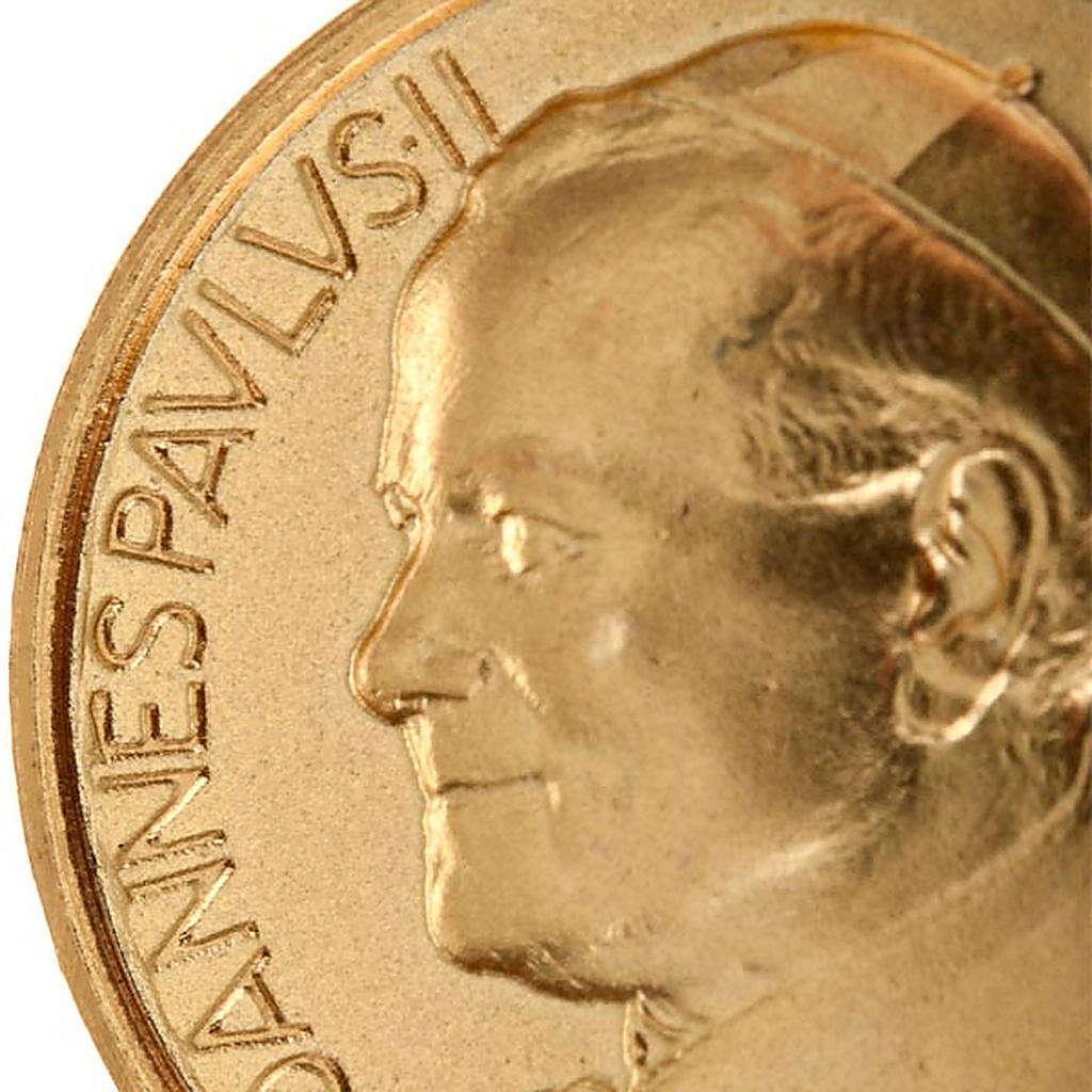 Medaglia Giovanni Paolo II oro 18 k 750 4