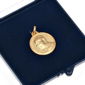 Medaglia Giovanni Paolo II oro 18 k 750 s4