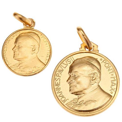 Medaglia Giovanni Paolo II oro 18 k 750 1