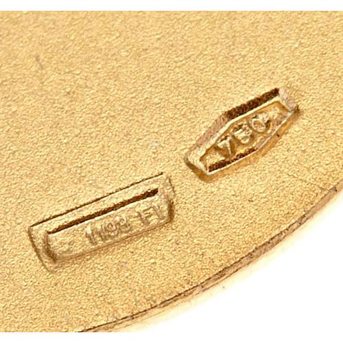 Medaglia Giovanni Paolo II oro 18 k 750 3