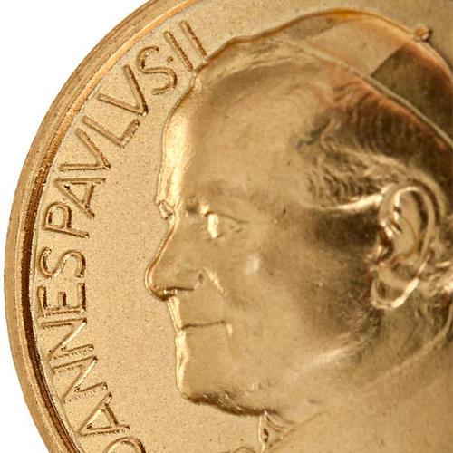 Medaglia Giovanni Paolo II oro 18 k 750 5