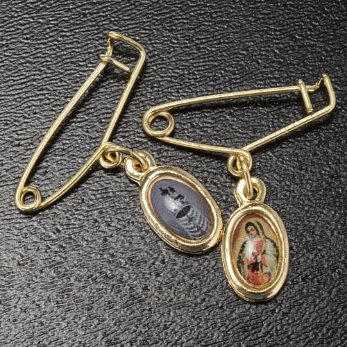 Medaille mit Brosche Madonna Guadalupe-Loreto 2